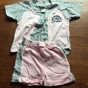 Girls Toddler Colorado Rockies Matched Set